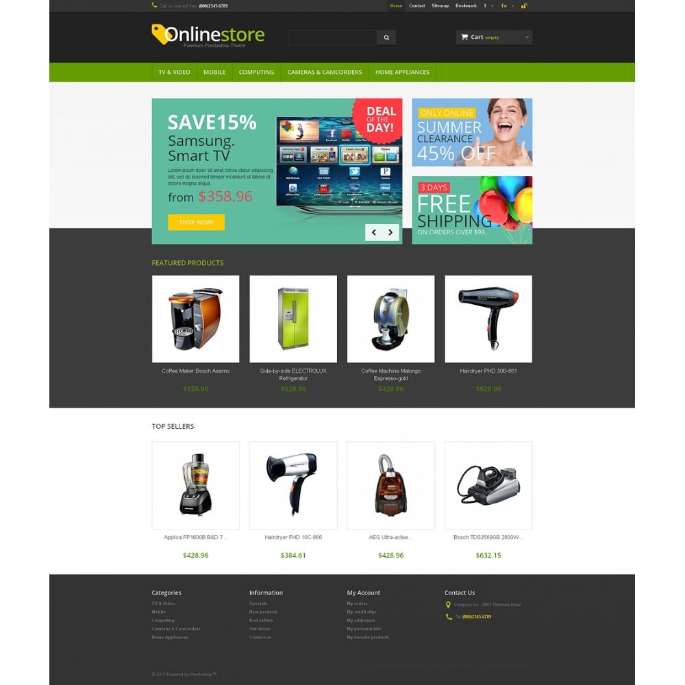 theme - Elektronika & High Tech - Responsive Online Store - 2