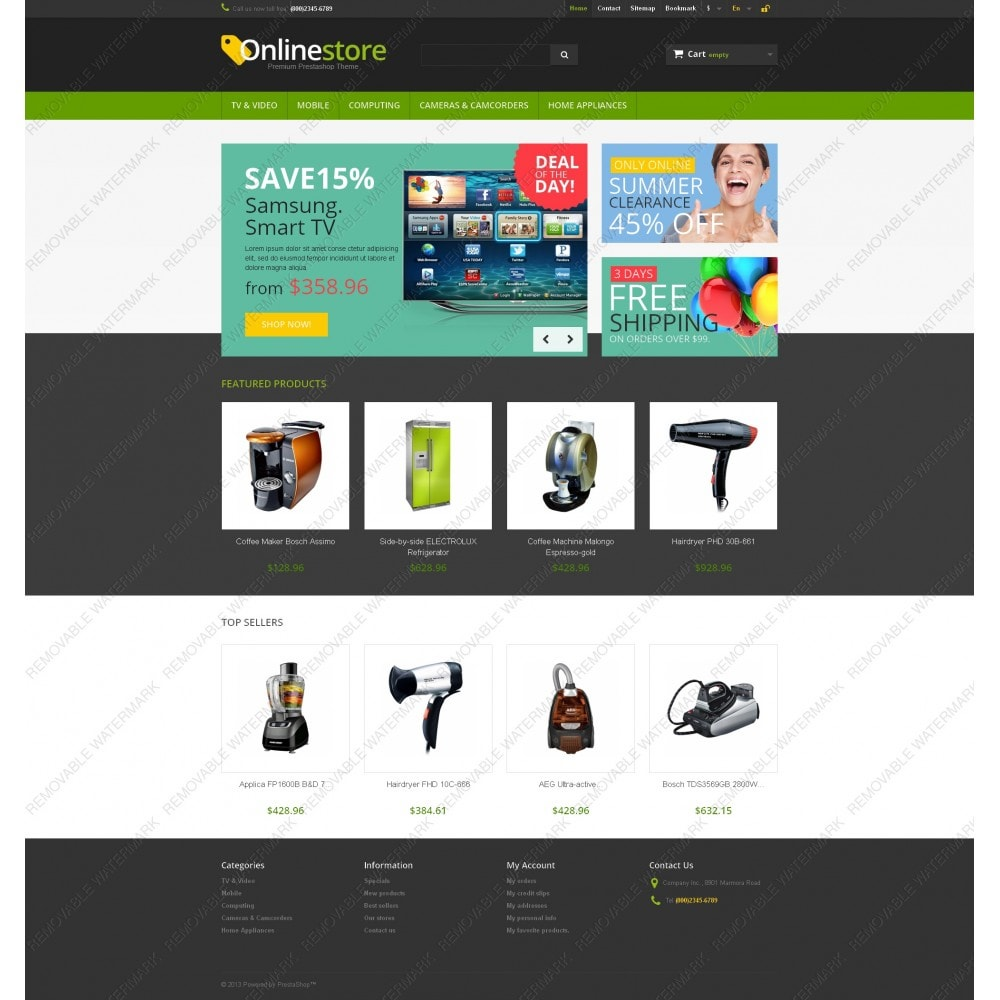 theme - Elektronika & High Tech - Responsive Online Store - 5
