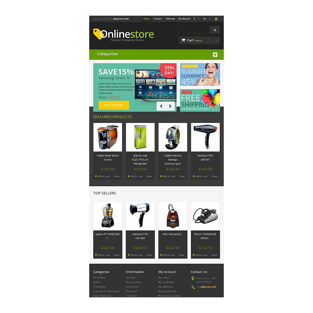 theme - Elektronika & High Tech - Responsive Online Store - 7