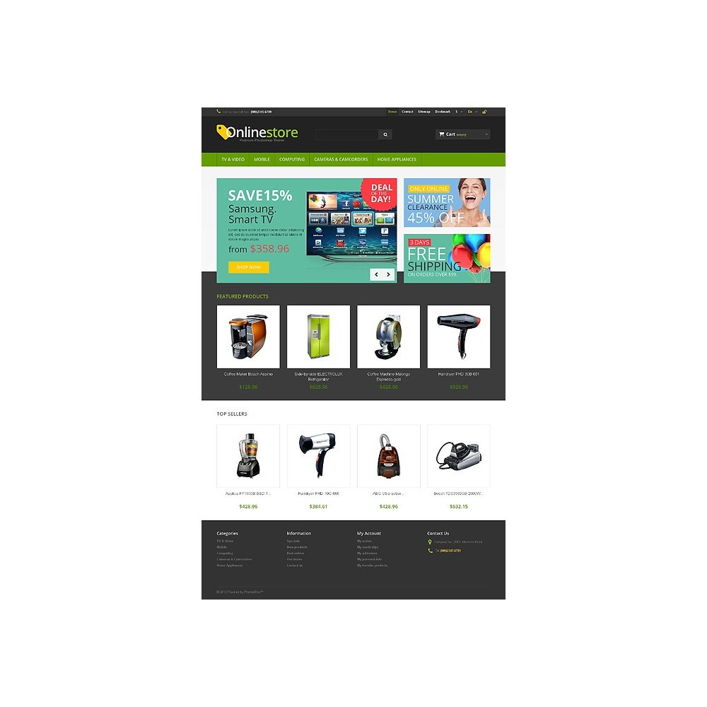 theme - Elektronika & High Tech - Responsive Online Store - 10