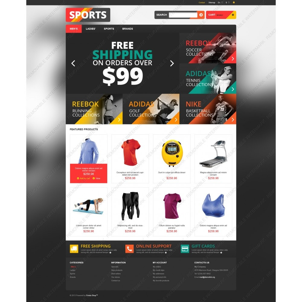 Responsive Sports Store