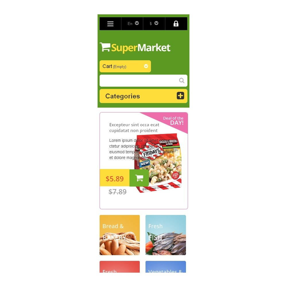 theme - Food & Restaurant - Responsive Supermarket - 9