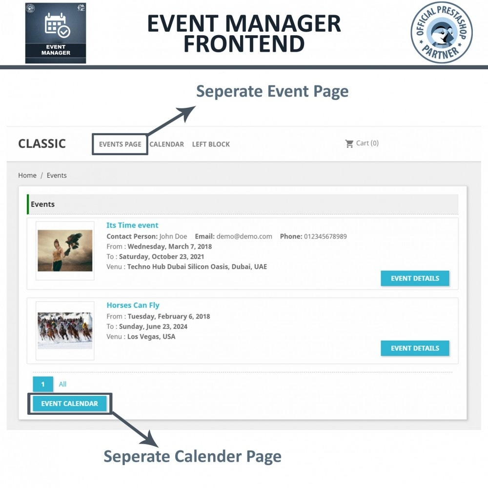 module - Reservation & Rental System - Events Manager, Create events & Sell tickets Online - 4