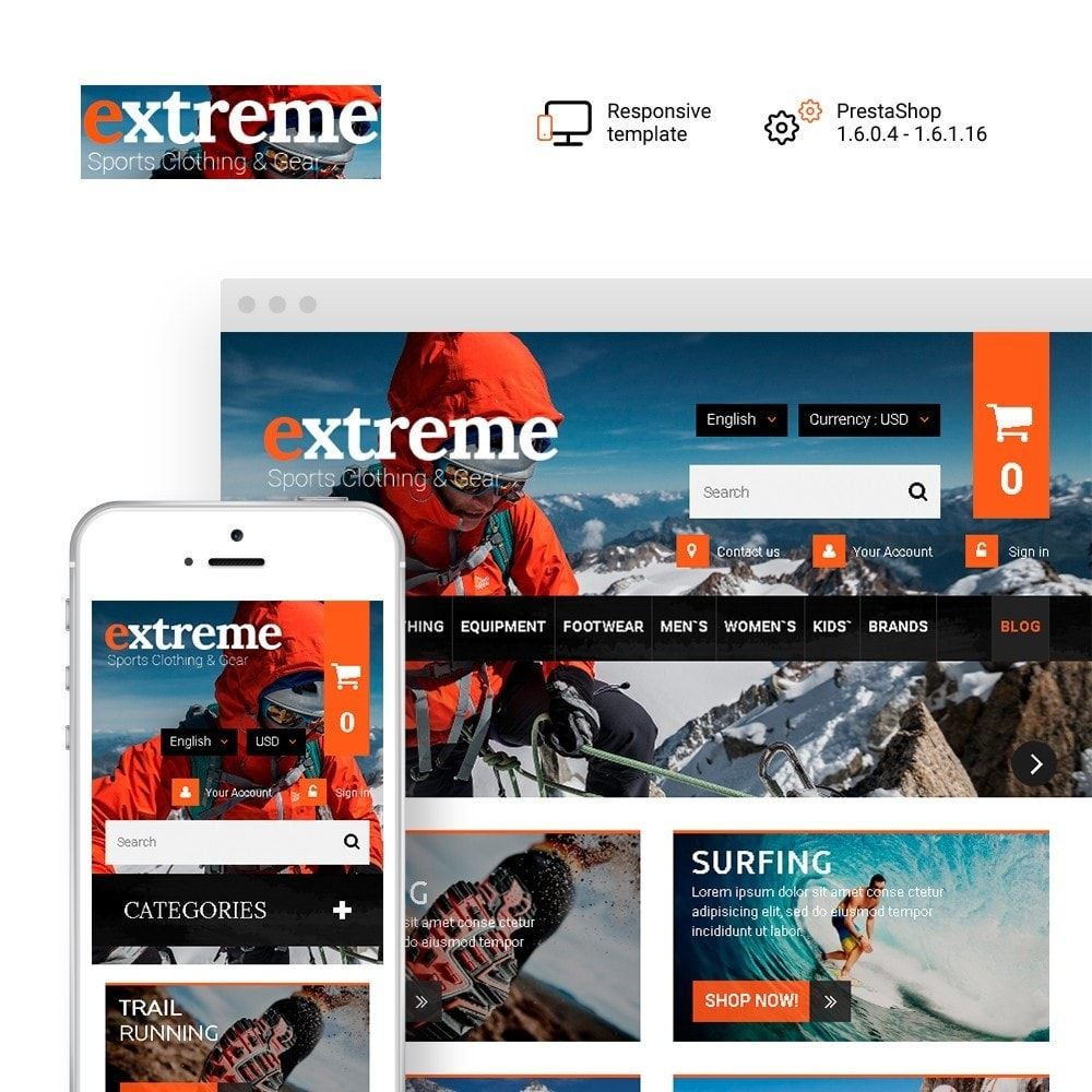 theme - Sports, Activities & Travel - Extreme - Extreme Clothes & Gear - 1