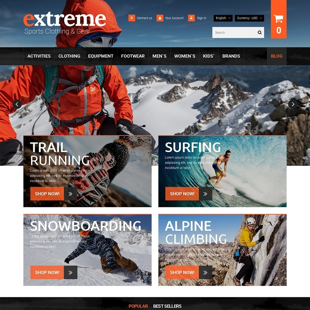 theme - Sports, Activities & Travel - Extreme - Extreme Clothes & Gear - 2