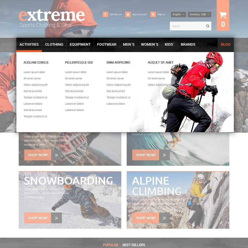 theme - Sports, Activities & Travel - Extreme - Extreme Clothes & Gear - 5