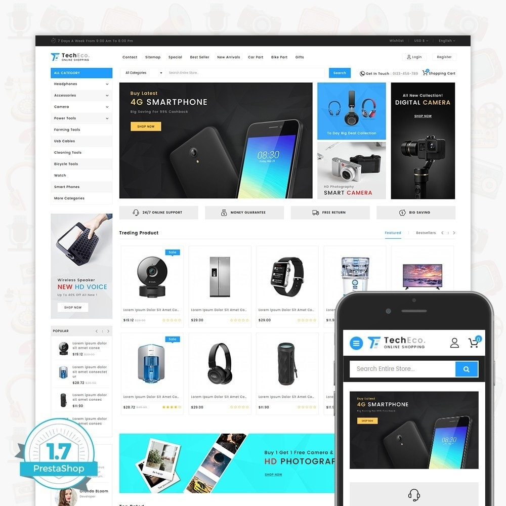 theme - Eletrônicos & High Tech - TechEco  - The Online Shopping - 1
