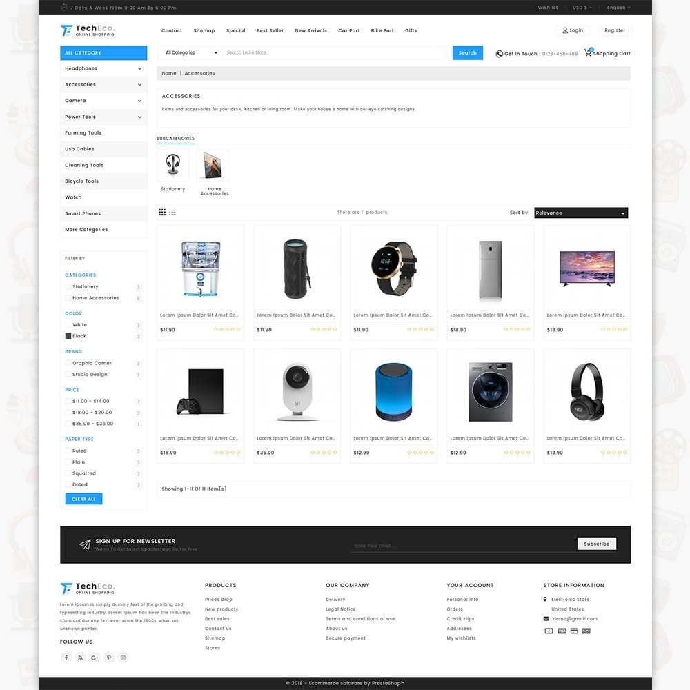 TechEco  - The Online Shopping