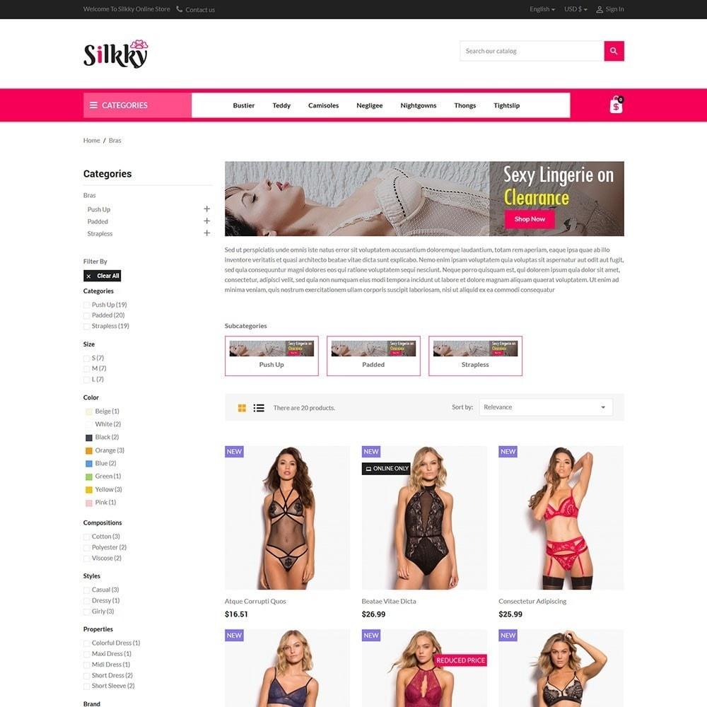 Silkky - Lingerie Online Store