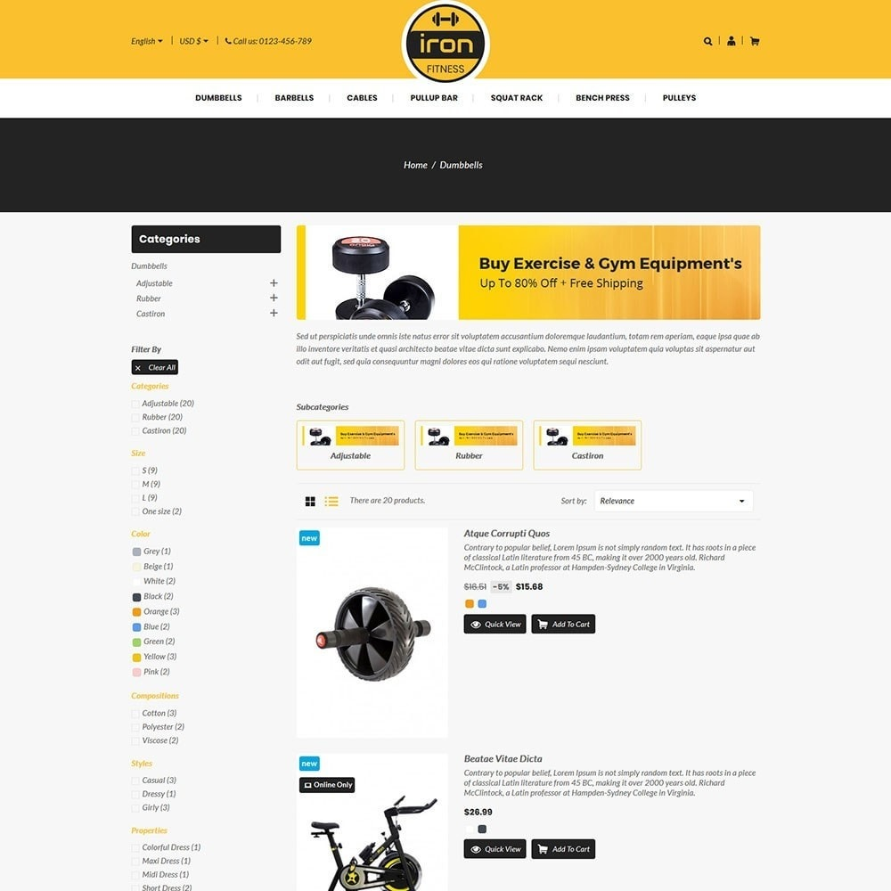 theme - Health & Beauty - Iron - Fitness Online Store - 4