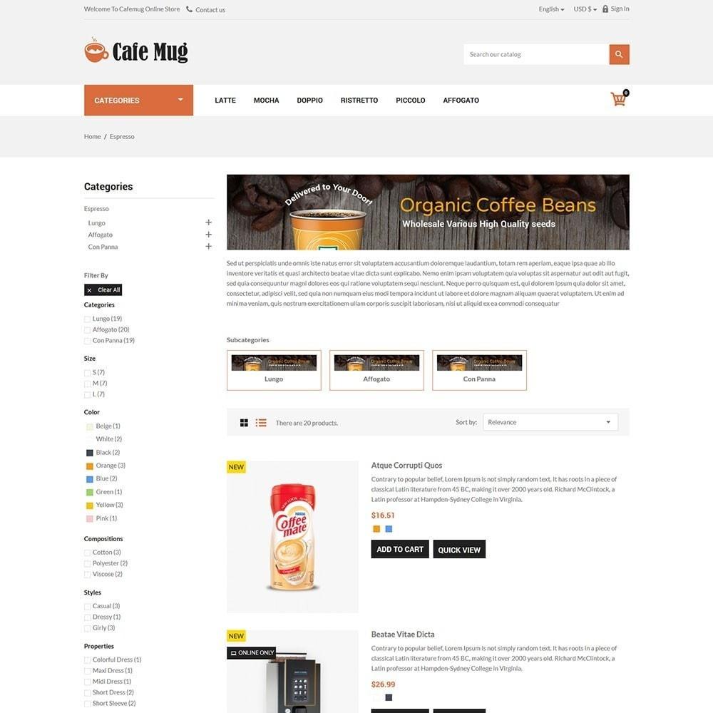theme - Żywność & Restauracje - Cafemug - Coffee Online Store - 4