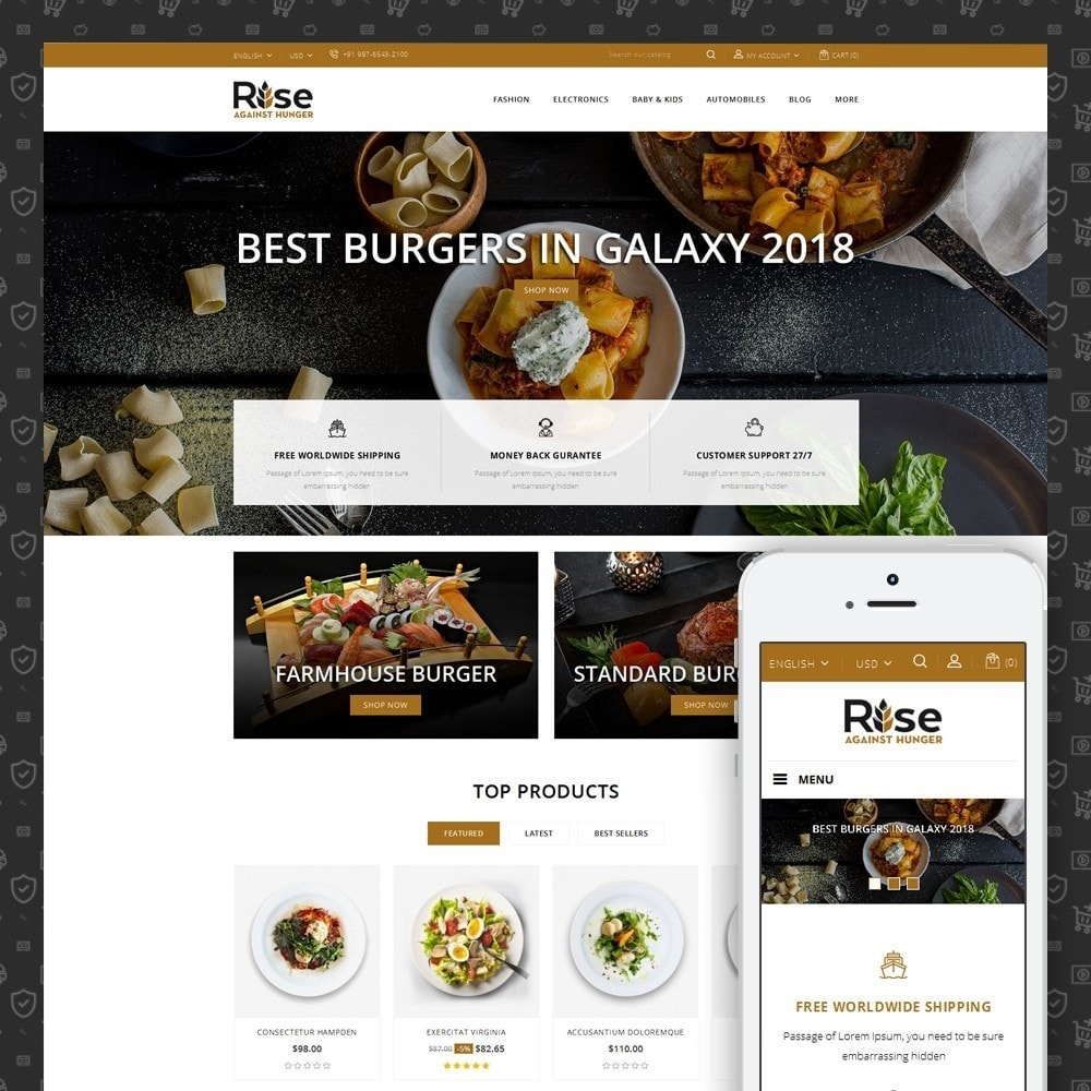theme - Alimentation & Restauration - RISE - Food Store - 1