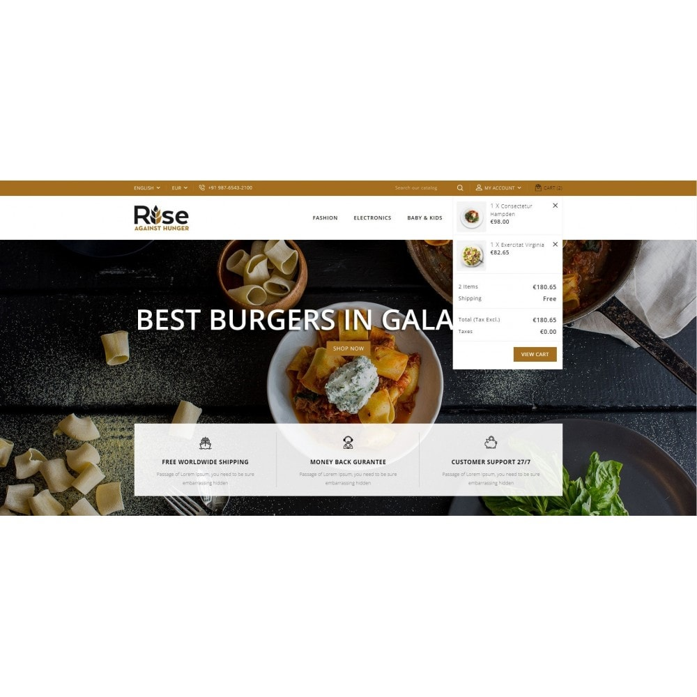theme - Lebensmittel & Restaurants - RISE - Food Store - 8