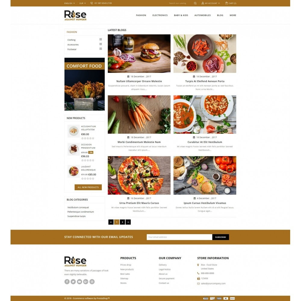 theme - Lebensmittel & Restaurants - RISE - Food Store - 9
