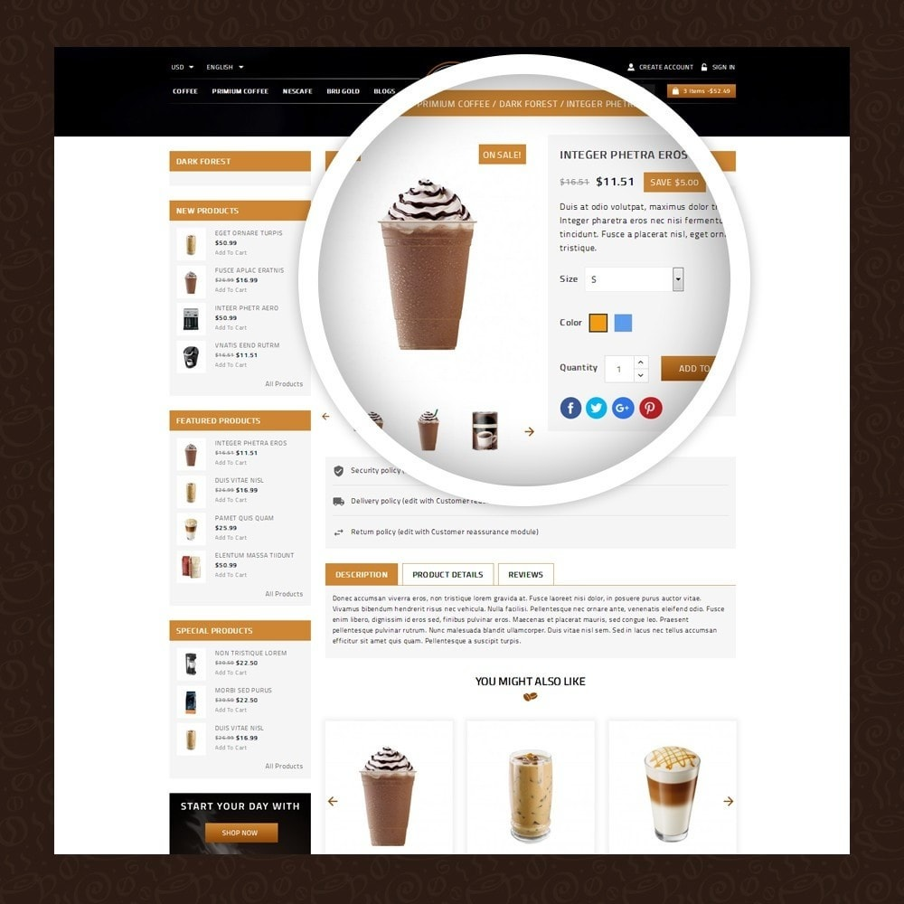 theme - Gastronomía y Restauración - Coffeea - Coffee shop - 4