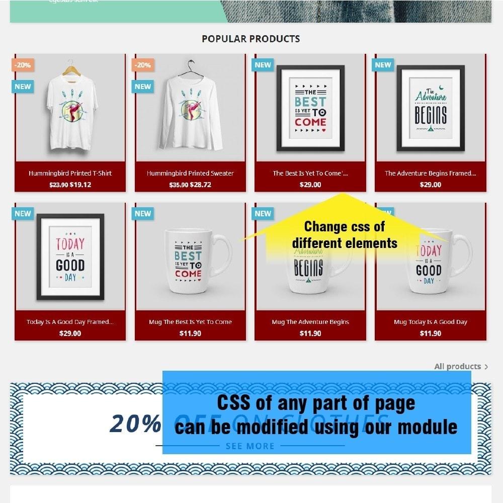 module - Personnalisation de Page - Yucca Custom CSS/JS - 2