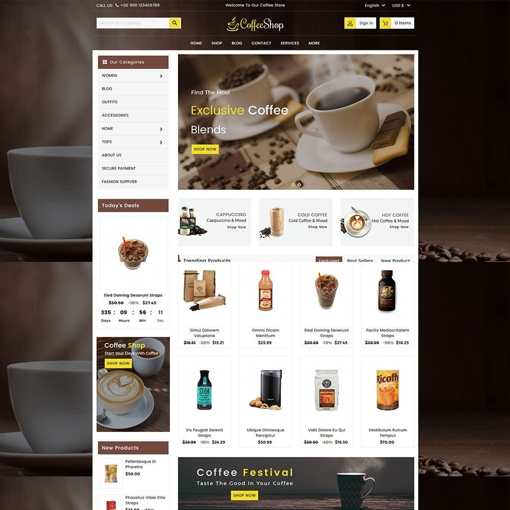 Coffee and Drinks Store