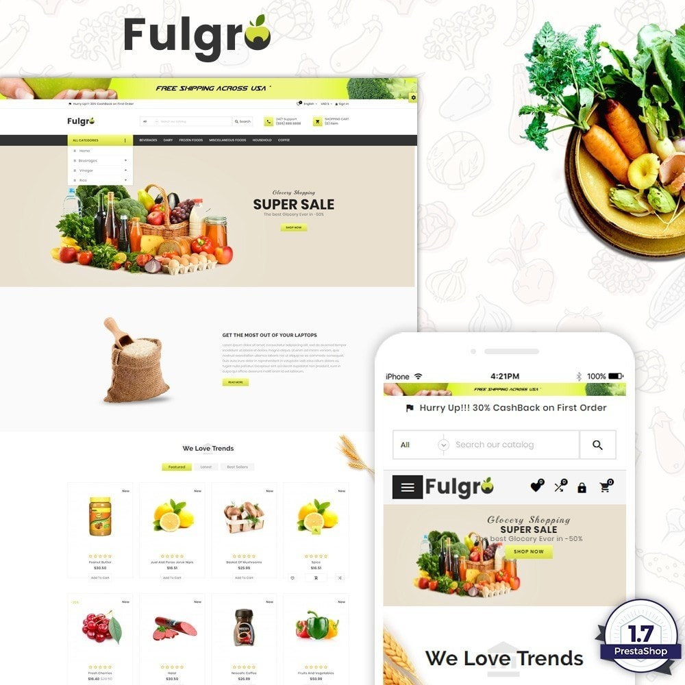 Fulgro – Food and Grocery Super Store v3