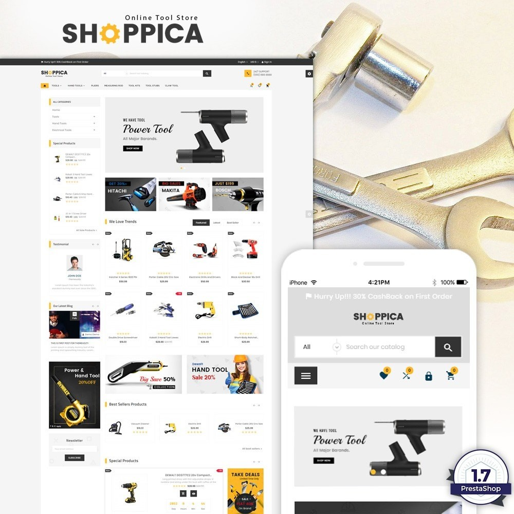 theme - Coches y Motos - Shoppica Tools Super Store v3 - 1