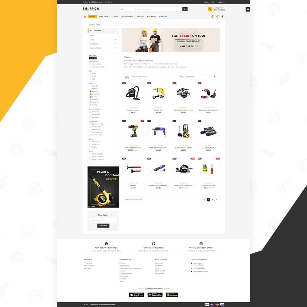 theme - Auto & Moto - Shoppica Tools Super Store v3 - 3