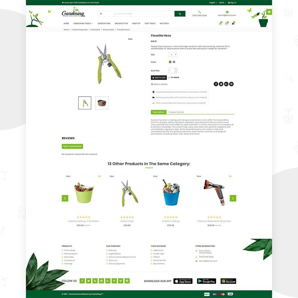 theme - Dom & Ogród - Garding Garden Tool Store - 5