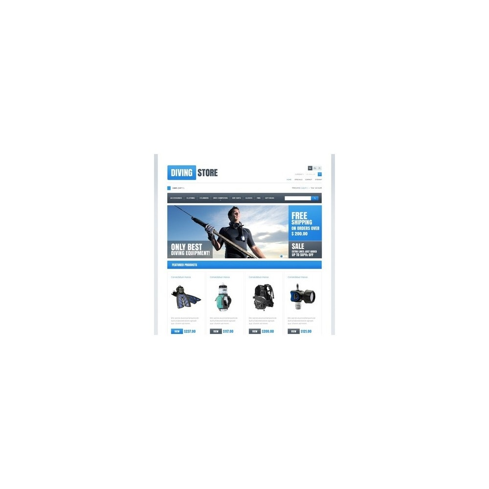 theme - Sport, Activiteiten & Reizen - Diving Store - 4