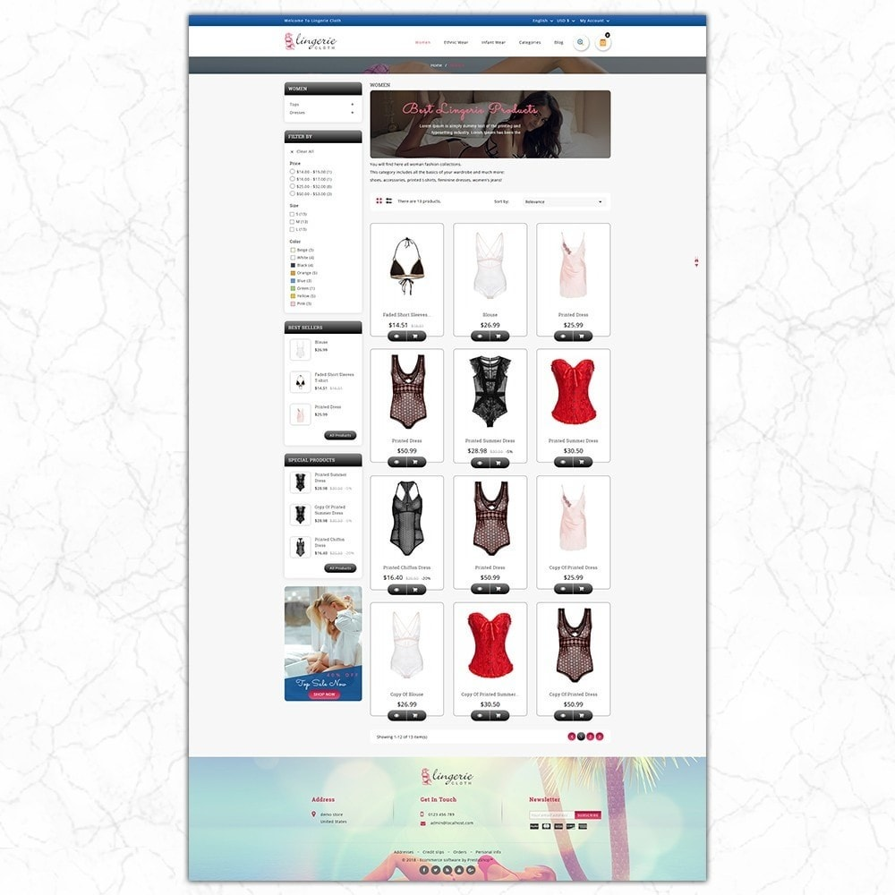 theme - Нижнее белье и товары для взрослых - LingerieCloth - Lingerie Store - 3