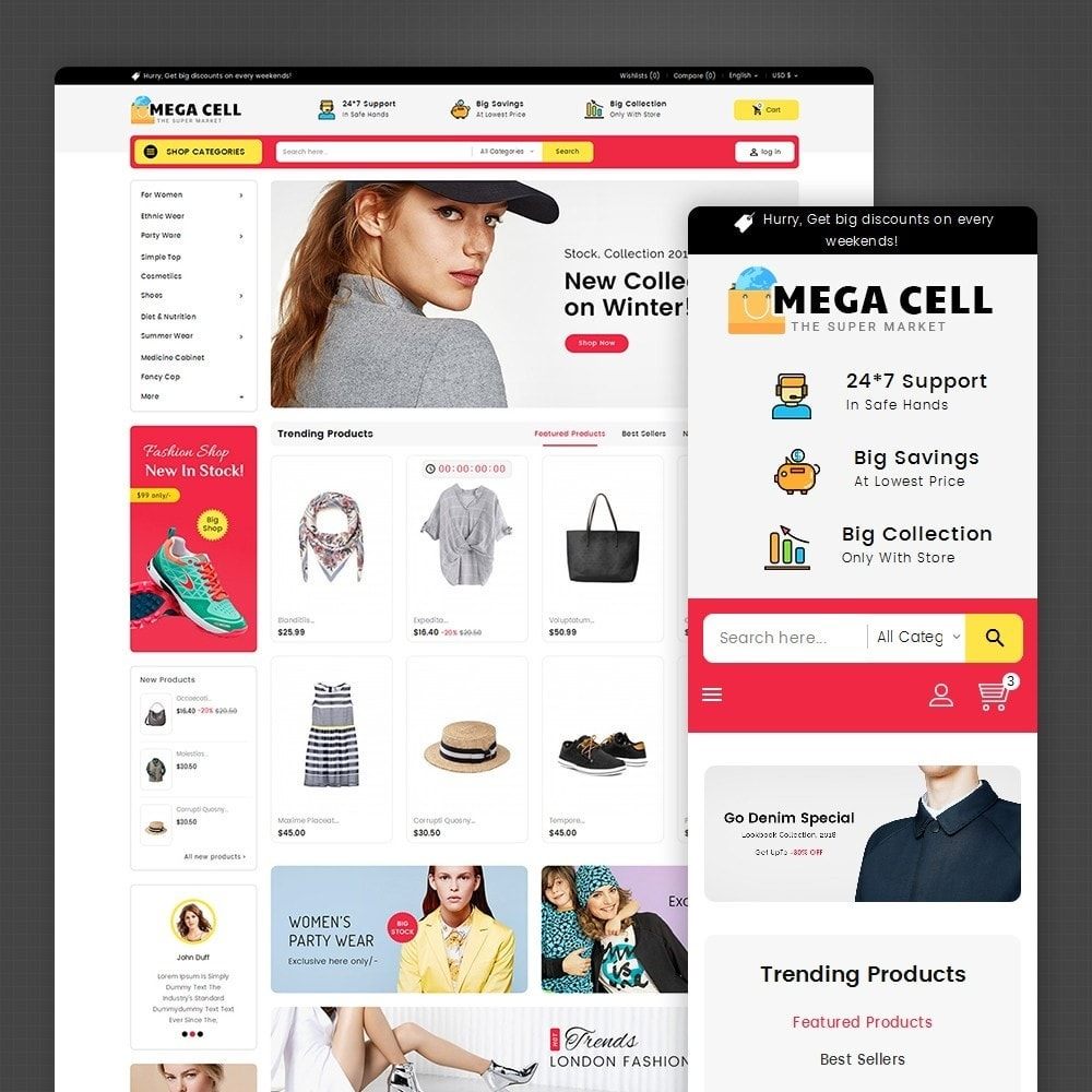 Mega Cell Fashion Market