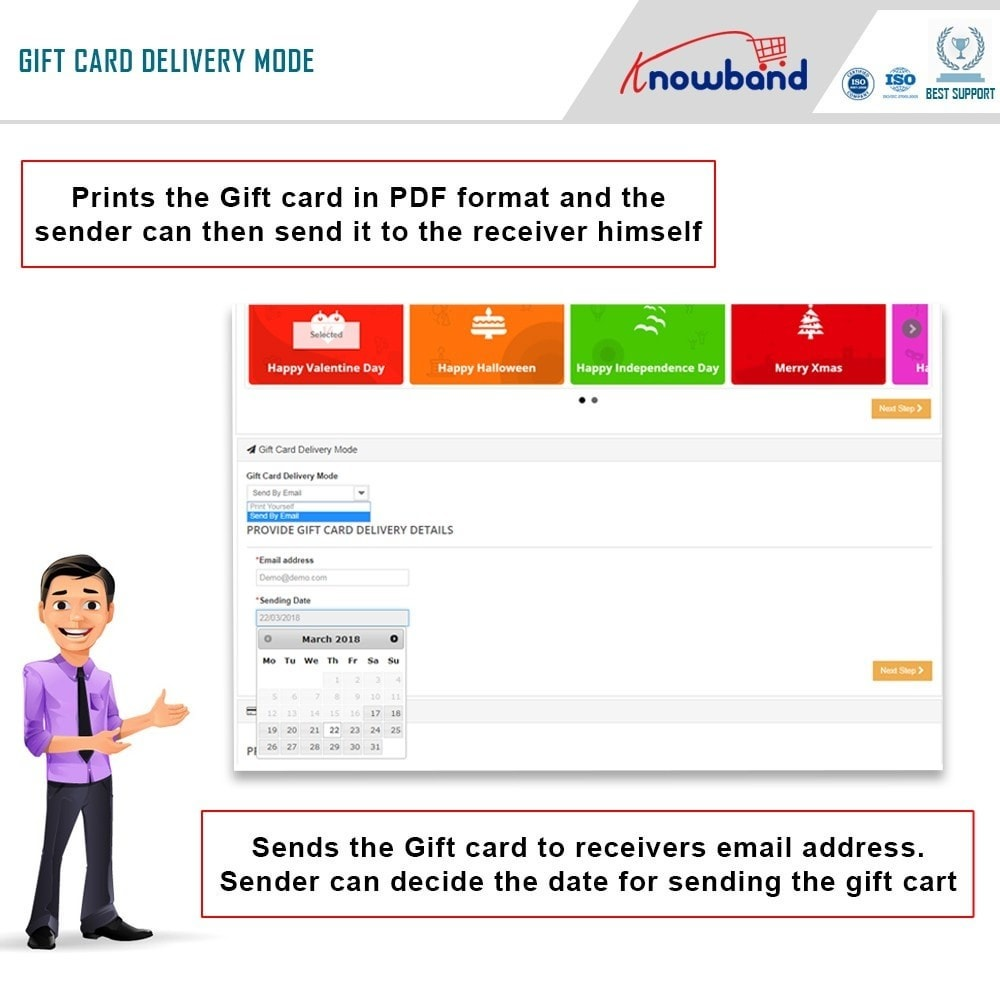 module - Wishlist & Gift Card - Knowband - Gift card manager - 2