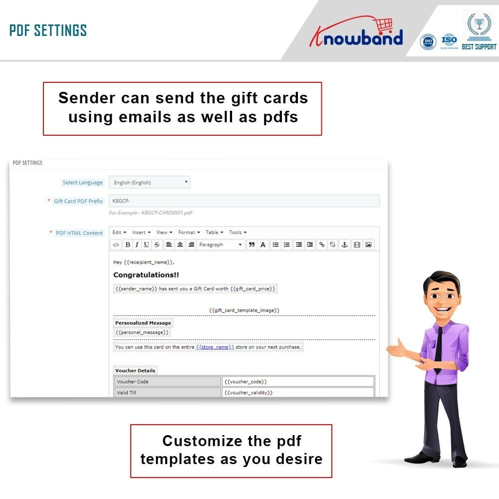 module - Whishlist & Gift Card - Knowband - Gift card manager - 7