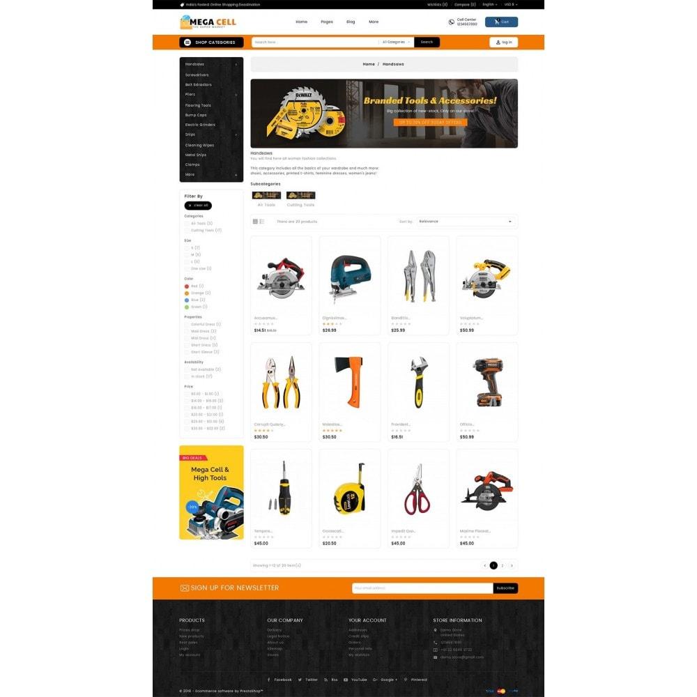 theme - Дом и сад - Mega Cell Tools Equipment - 3