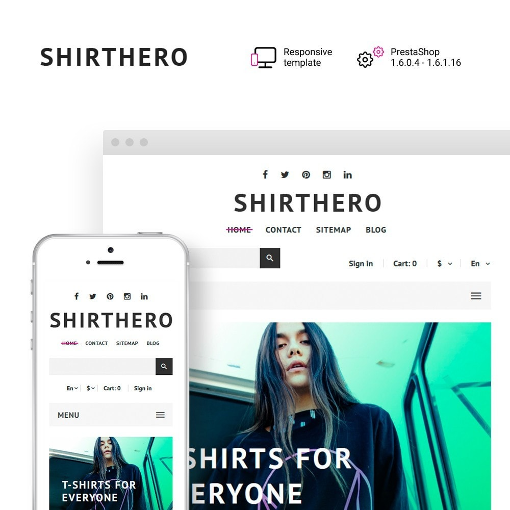 theme - Fashion & Shoes - ShirtHero - T-shirt - 1