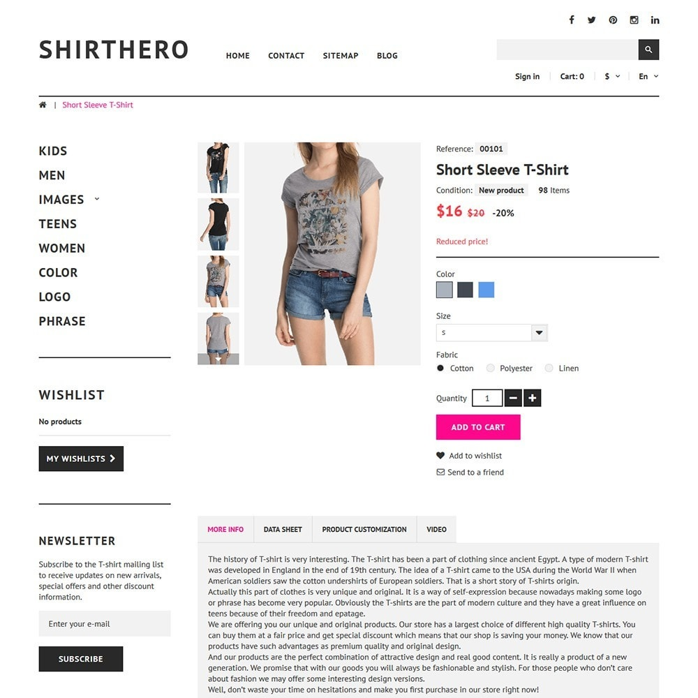 theme - Fashion & Shoes - ShirtHero - T-shirt - 3