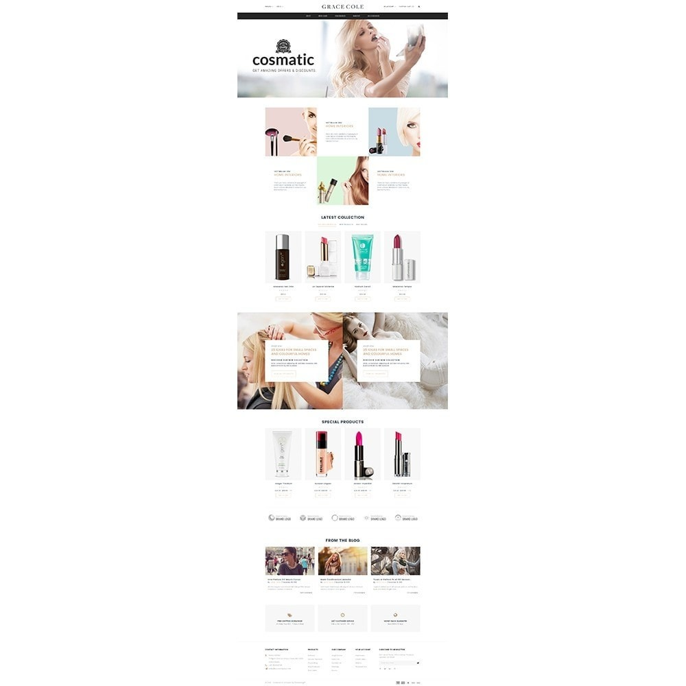 theme - Health & Beauty - Grace Cole Cosmetic Store - 2