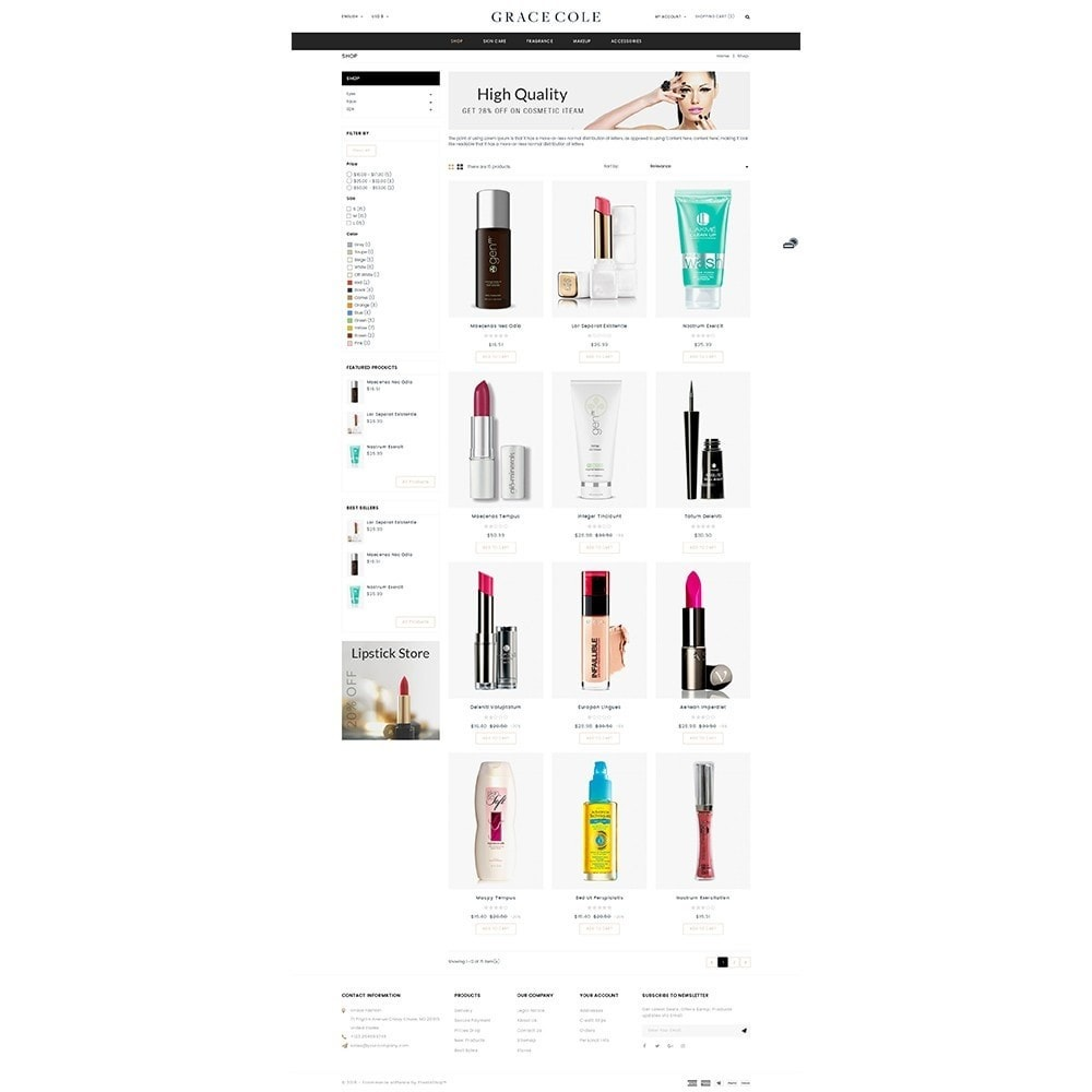 theme - Health & Beauty - Grace Cole Cosmetic Store - 3