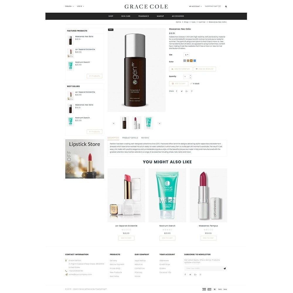 theme - Health & Beauty - Grace Cole Cosmetic Store - 5