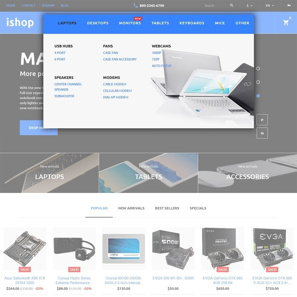 theme - Elettronica & High Tech - iShop - Computer Store - 5