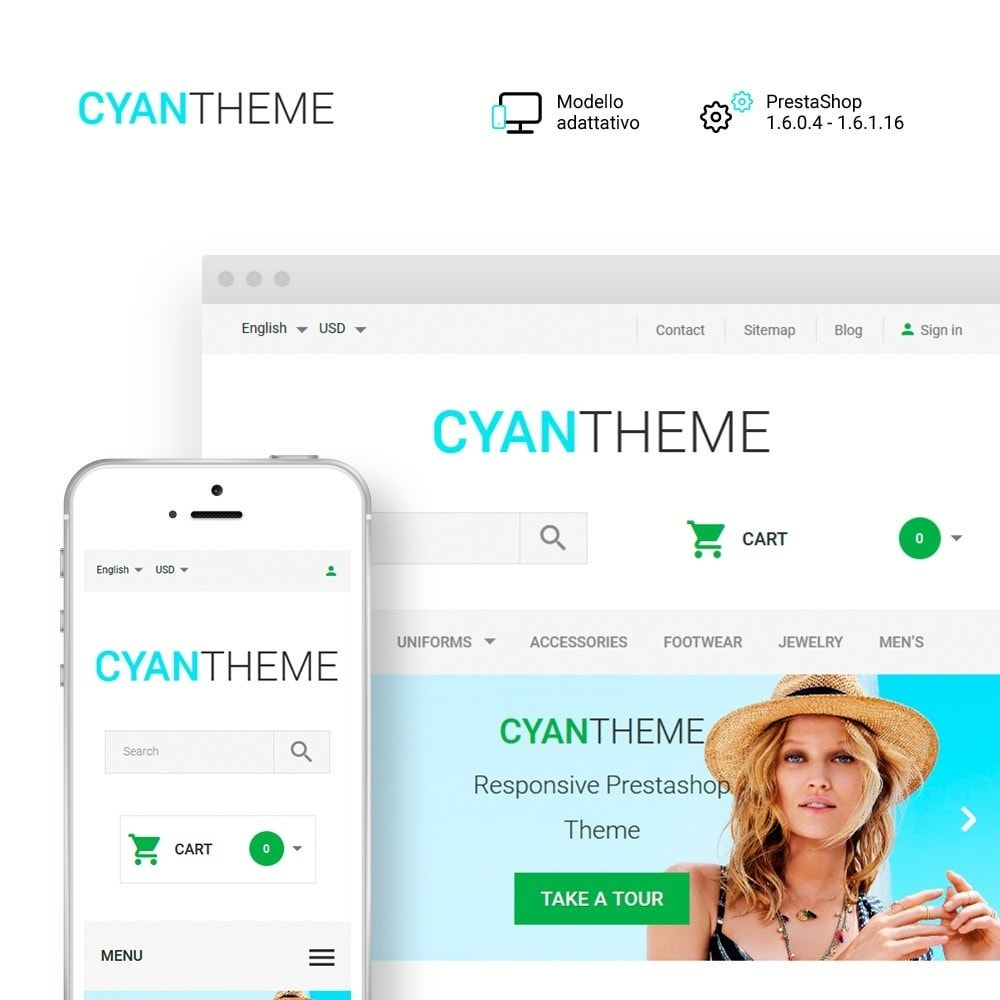 theme - Moda & Calzature - CyanTheme - Fashion Store - 1