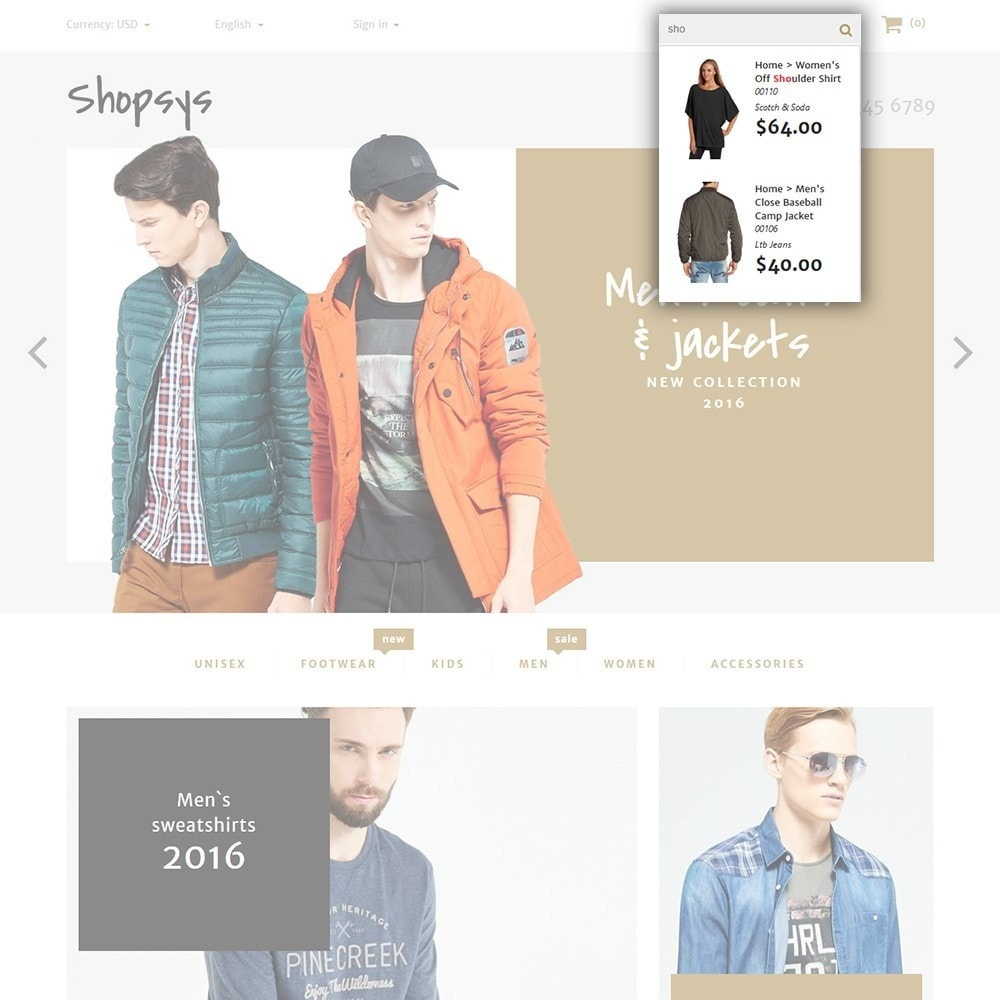theme - Мода и обувь - Shopsys - Trendy Clothes - 4