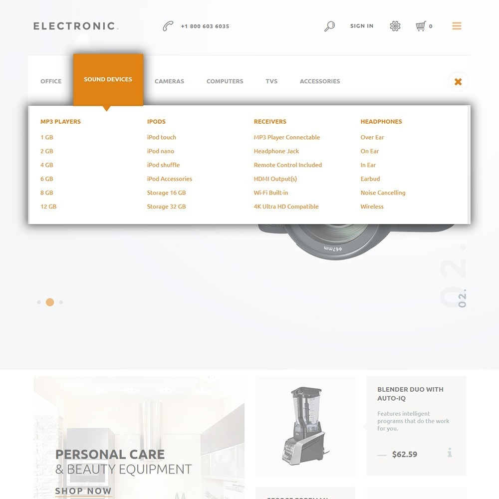 theme - Elettronica & High Tech - Electronic - White Electronics Store - 4