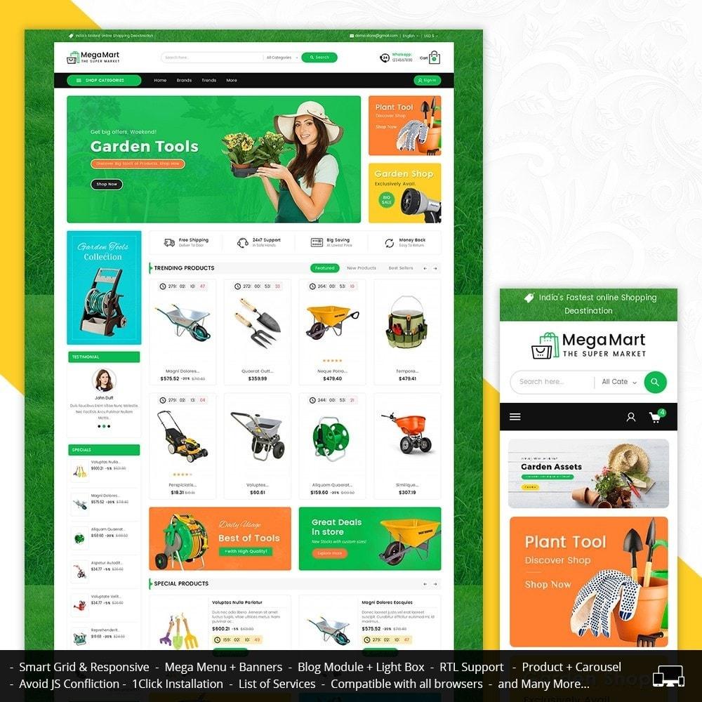 theme - Casa & Jardins - Mega Mart Gardening Tools - 1