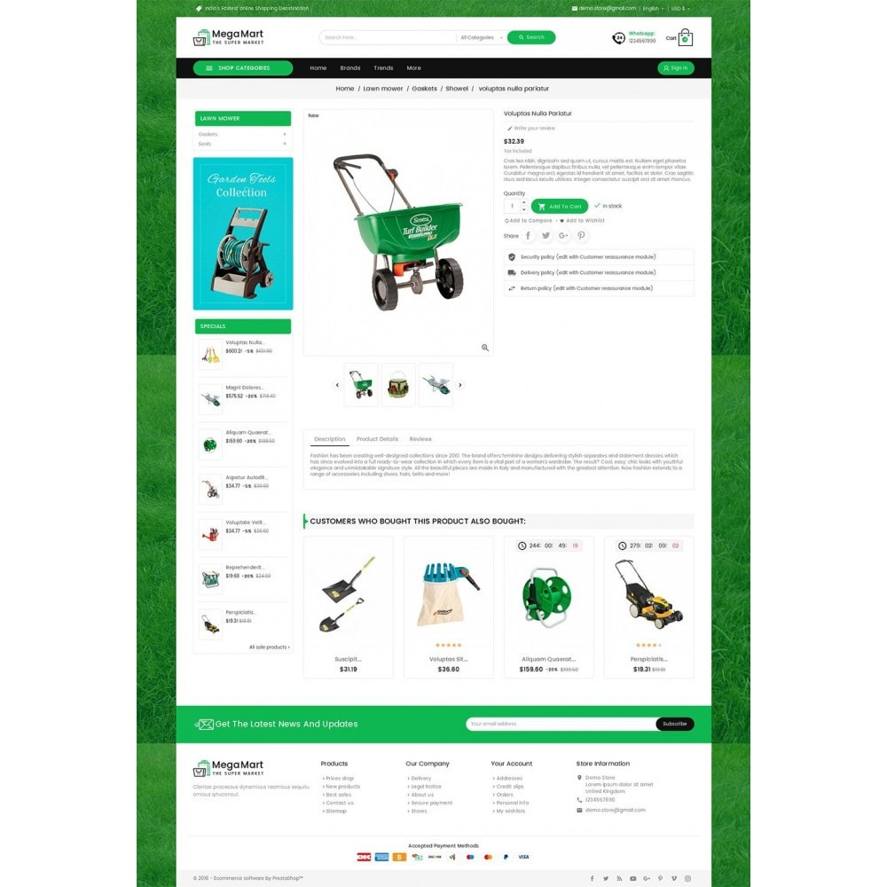 theme - Casa & Jardins - Mega Mart Gardening Tools - 5