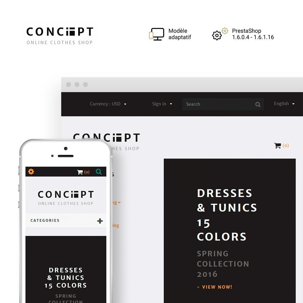 theme - Mode & Chaussures - Concept - Apparel Store - 1