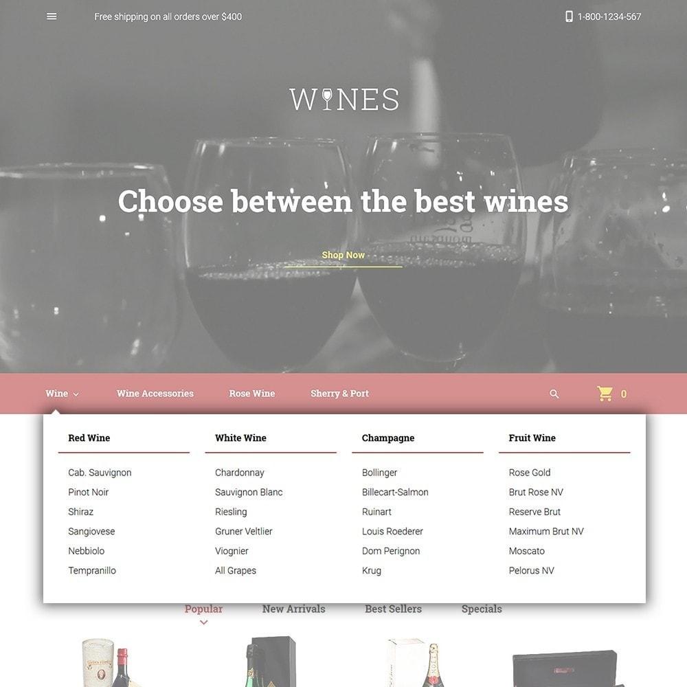 theme - Żywność & Restauracje - Wines - Wine Store - 4