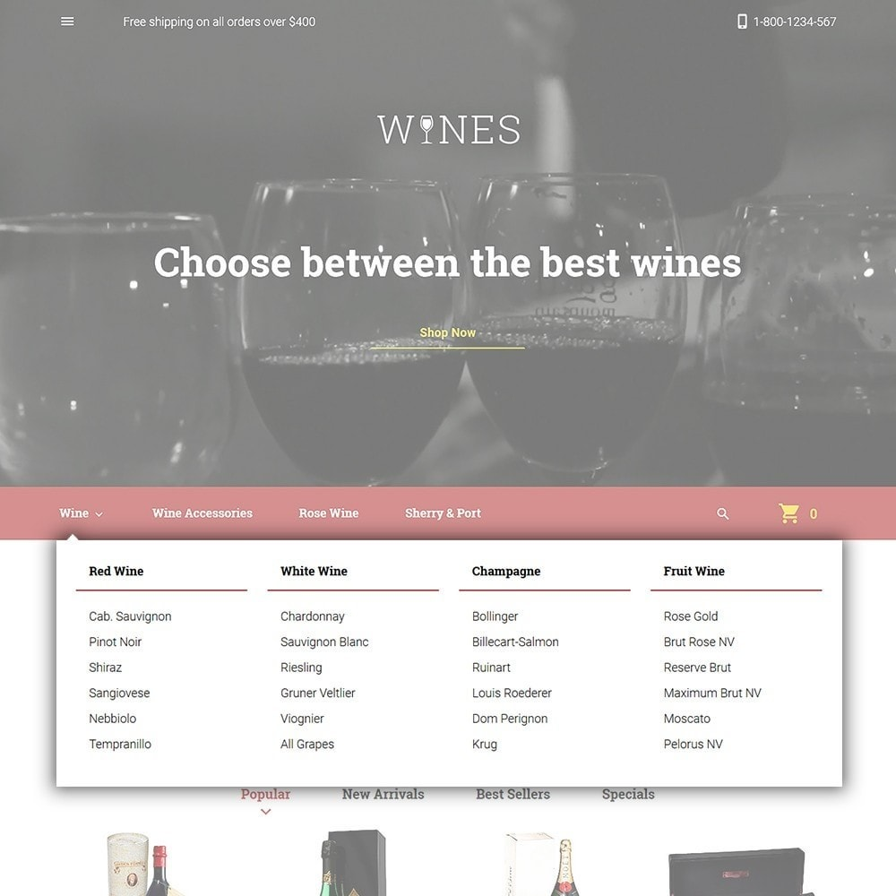 theme - Alimentos & Restaurantes - Wines - Wine Store - 4