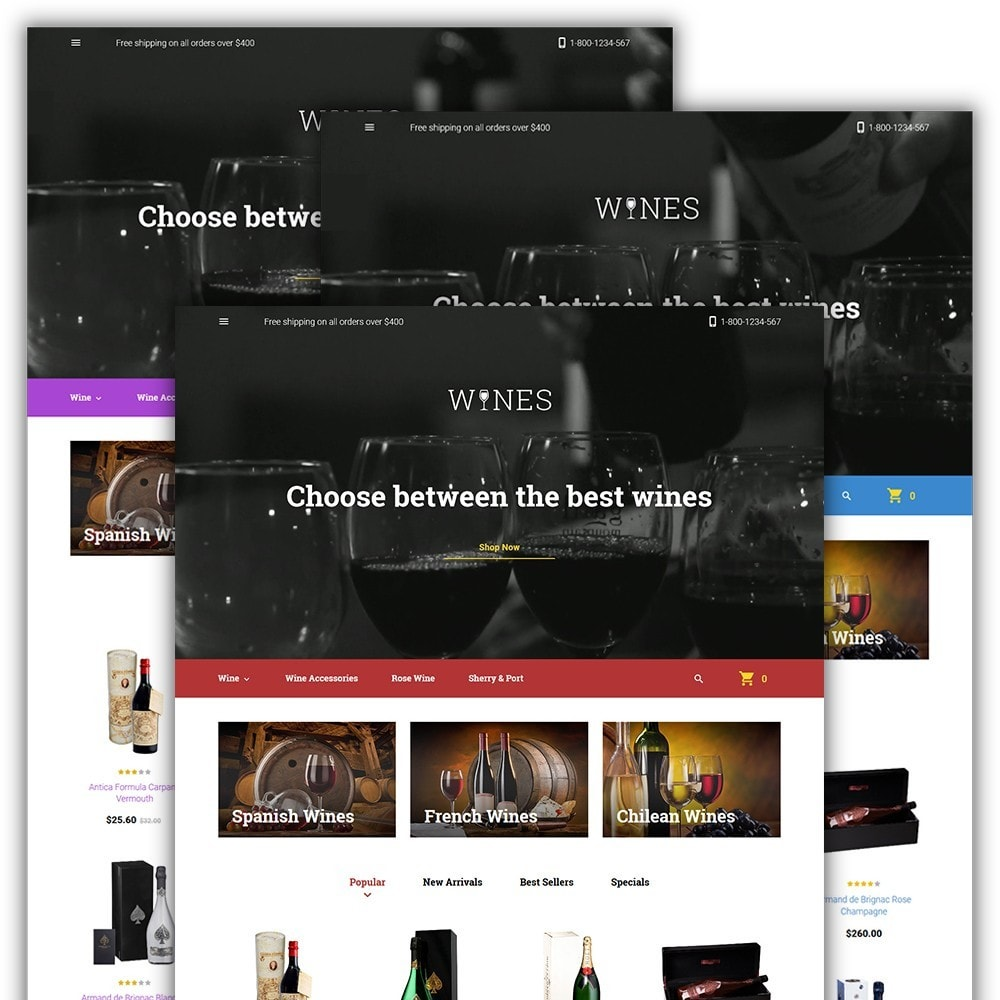 theme - Alimentation & Restauration - Wines - Wine Store - 2