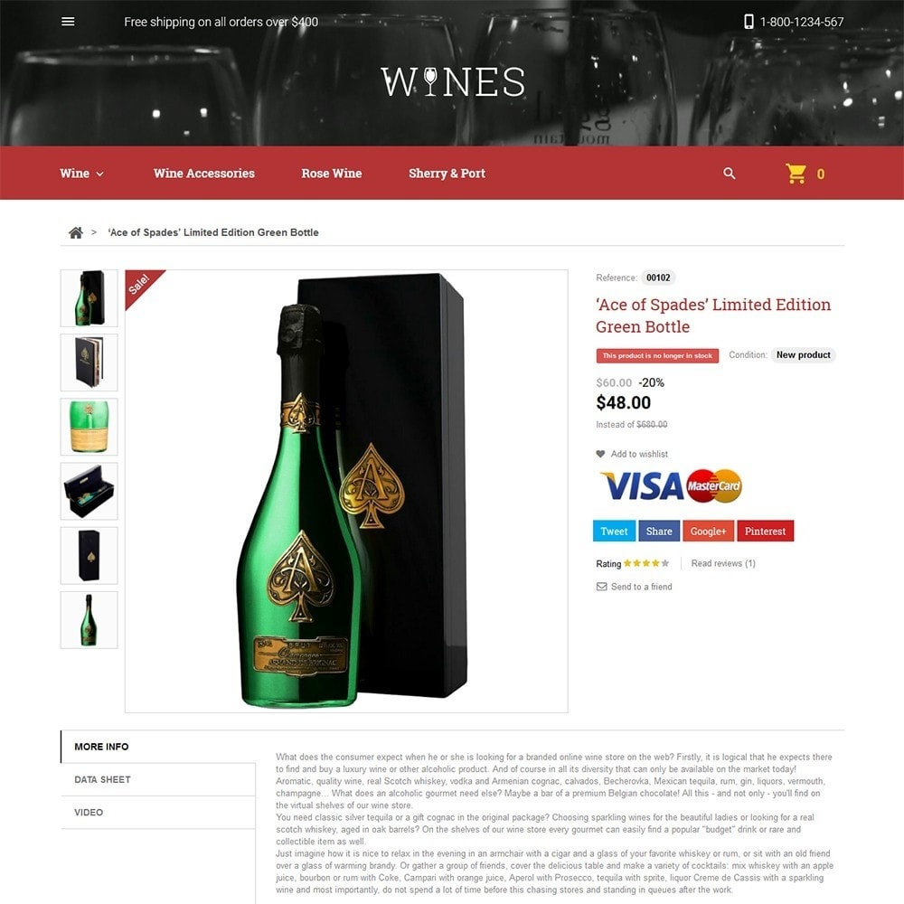 theme - Продовольствие и рестораны - Wines - Wine Store - 3