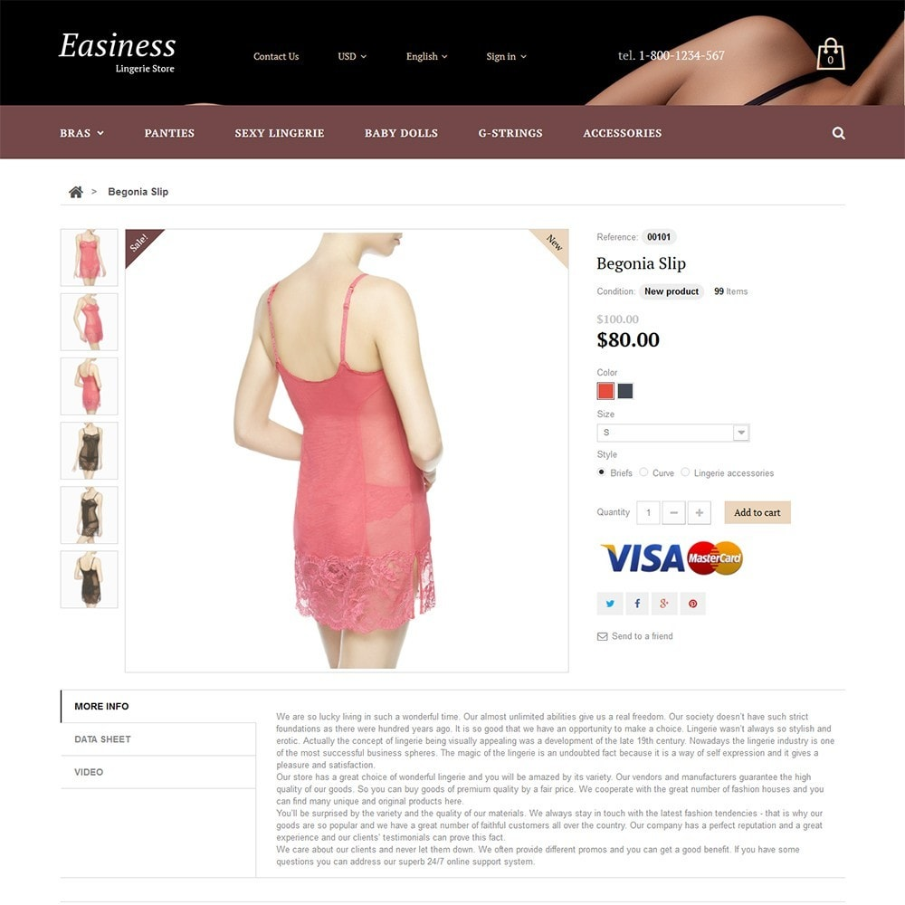 theme - Mode & Schuhe - Easiness - Lingerie Store - 3