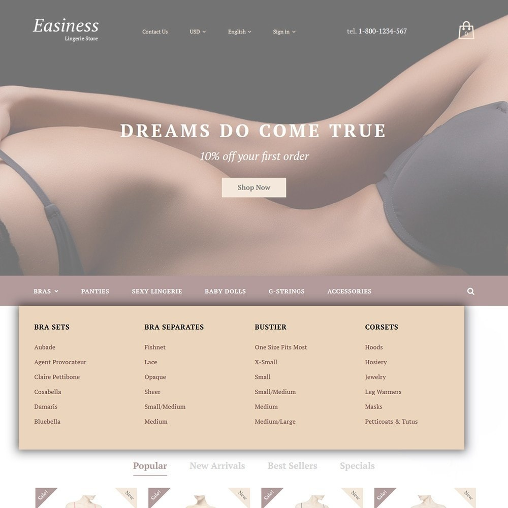 theme - Мода и обувь - Easiness - Lingerie Store - 4