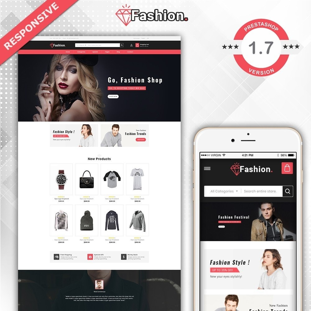 theme - Moda & Calçados - Fashion Shop -  Fashion Store Template - 2